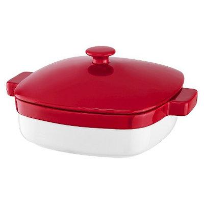 KitchenAid Streamline 4.2 Qt. Ceramic Casserole Dish - Red/White