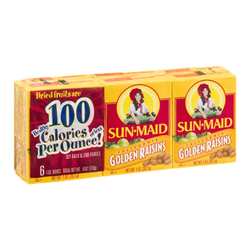 Sun-Maid California Golden Raisins - 6 CT