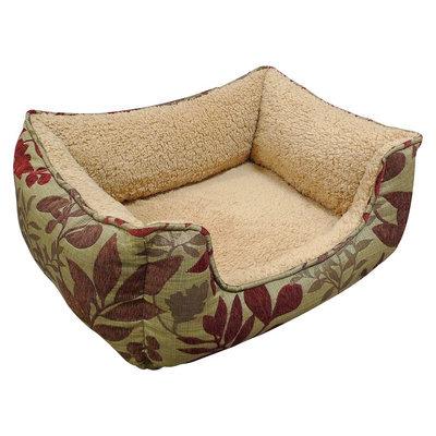 Arlee Bristol Chenille Leaf Jacquard Memory Foam Pet Bed