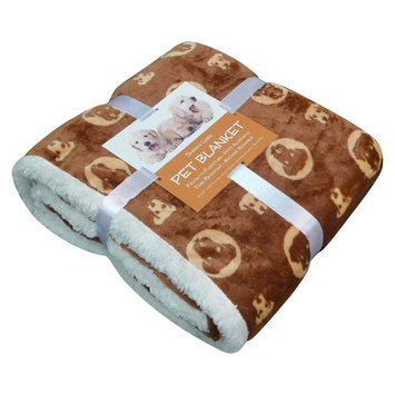 Overstock Bowser Print Micro Plush Sherpa-backed Pet Blanket