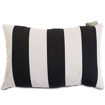 Majestic Home Goods 1 Black Vertical Stripe Uv Protected Outdoor Accent Pillow