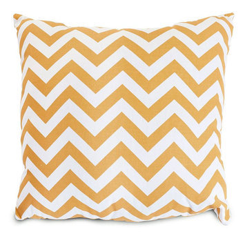 Majestic Home Goods 1 Yellow Uv Protected Outdoor Accent Pillow