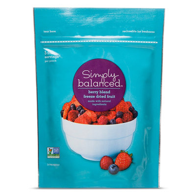 Simply Balanced Freeze Dried Fruit Berry Blend 1.5oz