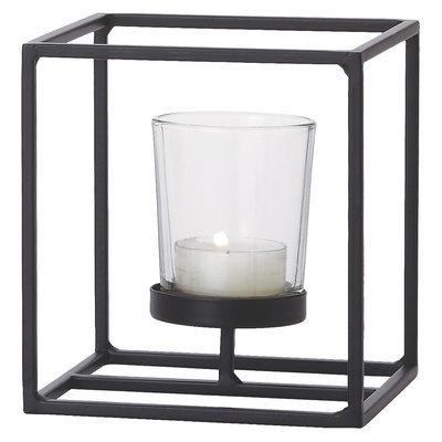 Torre & Tagus Single Box Frame Candle Holder - Black