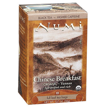 Numi Tea Chinese Breakfast Yunnan Black Tea - 18 Tea Bags - Herbal Teas