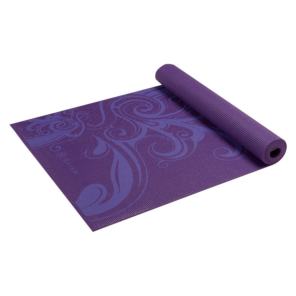Gaiam Deep Plum Surf Yoga Mat - Purple (3mm)