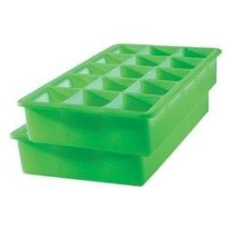 Tovolo Set of 2 Perfect Cube Ice Trays, Green