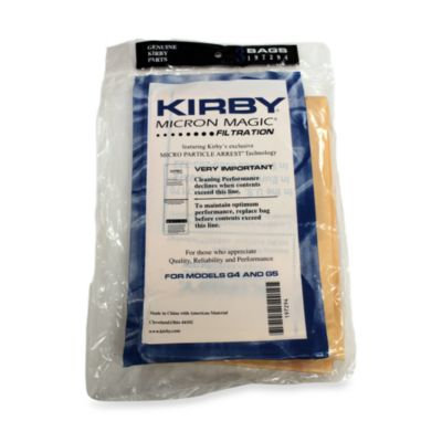 KirbyA 3-Pack Vacuum Cleaner Bags for G4 and G5 Vacuums