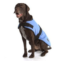 ABO Gear Breathable/Waterproof Dog Coat, Light Blue, Medium (16-18