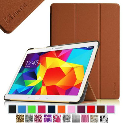 Fintie Smart Shell Case Ultra Slim Lightweight Stand Cover for Samsung Galaxy Tab S 10.5 (10.5-Inch) Tablet, Brown