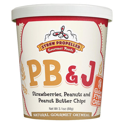 Straw Propeller PB and J Oatmeal 3.1 oz