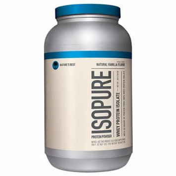 Nature's Best Isopure Protein Powder, Natural Vanilla, 3 Pounds