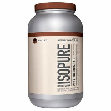 Nature's Best Isopure Natural Chocolate, 3-Pound Tub