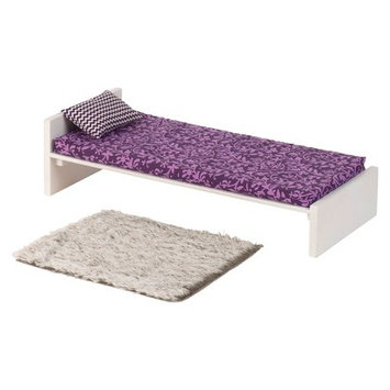 Our Generation Dollhouse Furniture - Bed and Rug Set