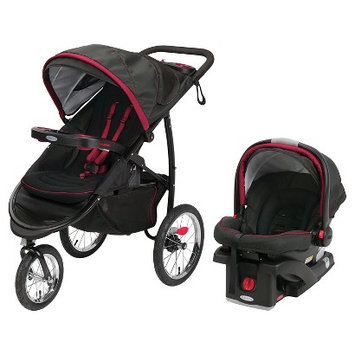 Graco FastAction Jogger Click Connect XT Travel System - Cardinal