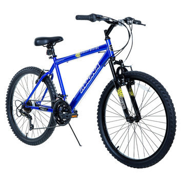 Boy's Magna Great Divide Mountain Bike - Blue (24