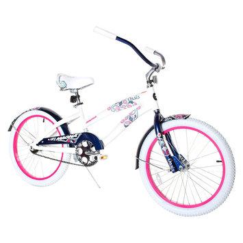Girl's Magna Oasis Cruiser Bike - White/Blue (20