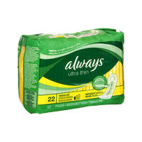 Always Ultra Thin without Wings Regular Pads - 22 CT