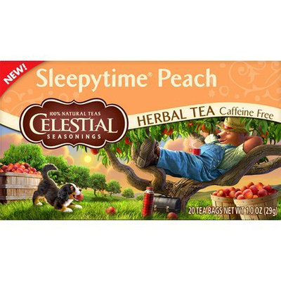 Celestial Seasonings Sleepytime Peach Herbal Tea 20 ct, 6 pk
