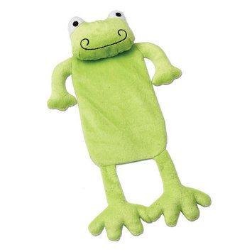 PetRageous Designs CrinkleRageous Finn the Frog Dog Toy (Green)