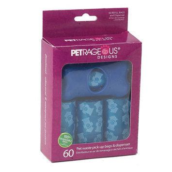 PetRageous Designs 60-pk. Pet Waste Pick-Up Bags & Dispenser Set (Blue)