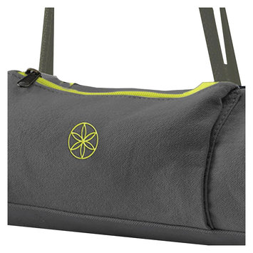 Gaiam On-the-Go Yoga Mat Carrier- Citron Storm - Grey