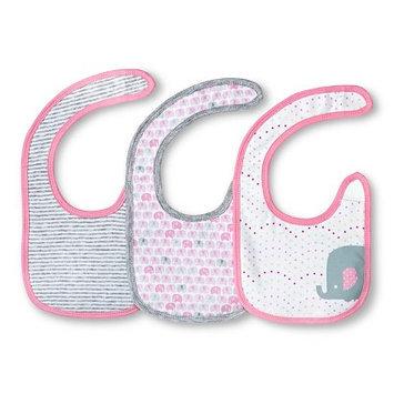 Girls' 3 Pack Bib Set Fun Pink - Circo
