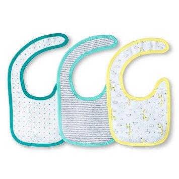 Newborn 3 Pack Bibs Yellow/Soft Aqua - Circo