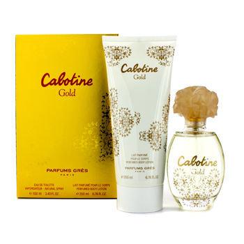 Gres Cabotine Gold Coffret: Eau De Toilette Spray 100ml/3.4oz + Body Lotion 200ml/6.76oz 2pcs