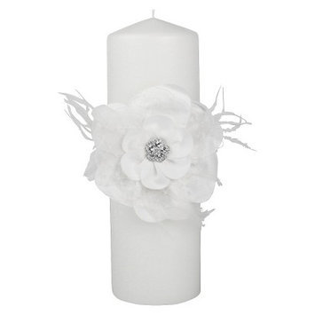 Ivy Lane Designs Ivy Lane Design Somerset Collection Unity Candle, 3 by 9-Inch Pillar, White