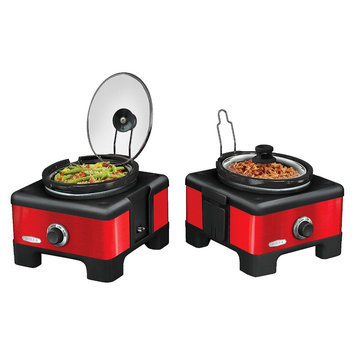 Sensio 2x 2.5-Quart LINX Slow Cooker - Red