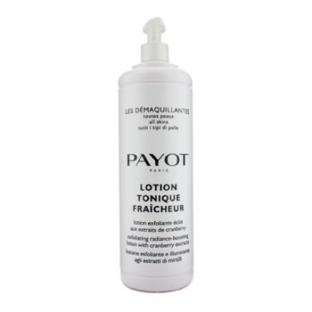 Payot Lotion Tonique Fraicheur Exfoliating Radiance-Boosting Lotion - For All Skin Type (Salon Size)