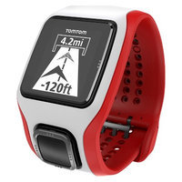 Tomtom - Multi-sport Cardio GPS Watch With Heart Rate Monitor - White/red