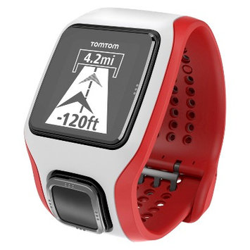 Tomtom - Runner Cardio GPS Watch With Heart Rate Monitor - White/red