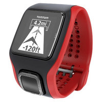 Tomtom - Runner Cardio GPS Watch With Heart Rate Monitor - Black/red