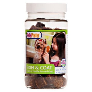 PetsPrefer Skin and Coat Soft Chew for Dogs - 4.23 Oz