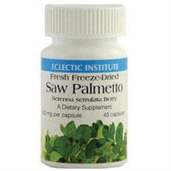 Eclectic Institute Saw Palmetto - 600 mg - 120 Vegetarian Capsules