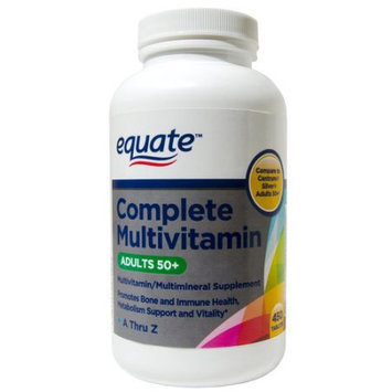 Wal-mart Stores, Inc. Equate Complete Multivitamin Adults, 50+ Multivitamin/Multimineral Supplement Tablets, 450 count