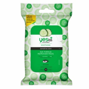 Yes To Cucumbers Yes to Cucumbers Soothing Eye Makeup Remover Pads for Sensitive Skin, 20 ea