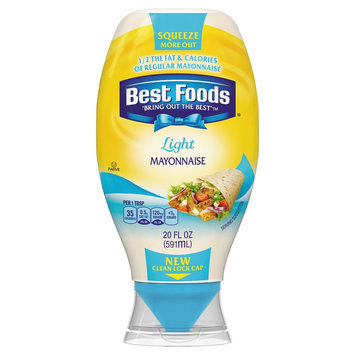 Best Foods Light Squeeze Mayonnaise 20 oz