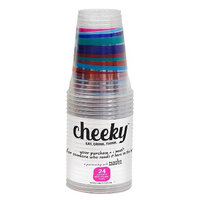 Solo Cup Company Cheeky Home Multicolor Stripe Disposable Clear Plastic Cups 16 oz 24