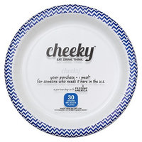 Solo Cup Company Cheeky Home Blue Chevron Stripe Disposable Paper Plates 10 in 30 ct