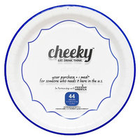 Solo Cup Company Cheeky Home Blue Chevron Stripe Disposable Paper Plates 9 in 44 ct