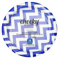 Solo Cup Company Cheeky Home Blue Chevron Stripe Disposable Paper Plates 7 in 58 ct