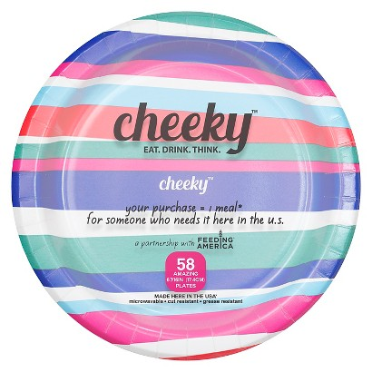 Solo Cup Company Cheeky Home Multicolor Stripe Disposable Paper Plates 7 in 58 ct