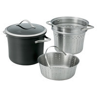Calphalon Contemporary Nonstick Dishwasher Safe Multi Pot with Steamer Insert - 8-Quart