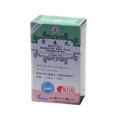 DIGESTIN TEA PILL (ZI SHENG WAN)160mg X 200 pills per bottle