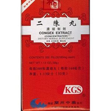 CONGEX (ER CHEN WAN)160mg X 200 pills per bottle.