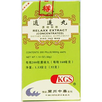 RELAXX EXTRACT (XIAO YAO WAN)160mg X 200 pills per bottle.
