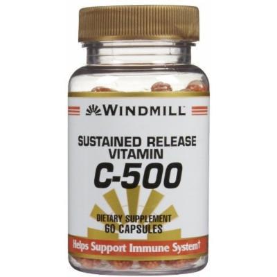 Vitamin C CAPS 500MG S/R WMILL Size: 60